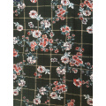 Check Flower Polyester Bubble Chiffon Printing Fabric