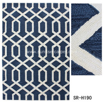 Hand Hooked rug with design