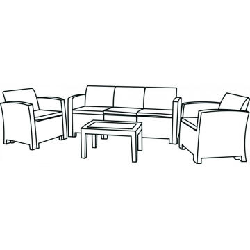 5 Seater (2nd Age)  PP Plastic Sofa
