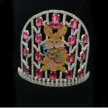 Easter Pageant Crown Egg Rabbit Rhinestone Tiara