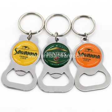 Custom Made Metal Keychain Bottle Opener