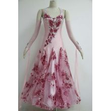 Pink ballroom dresses  plus size for girls