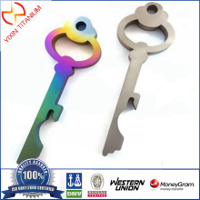 Customer Bottle Opener Made Of Titanium Plate