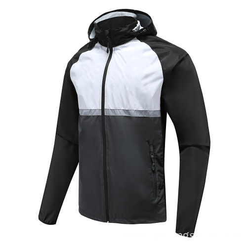 Mens Soccer Wear Zip Up Hoodies Black