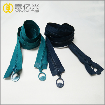 two way heavy duty plastic resin mould zipper