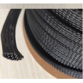 Black Fireproof Cable Sleeving Mesh Expandable Sleeving Braided Sleeve