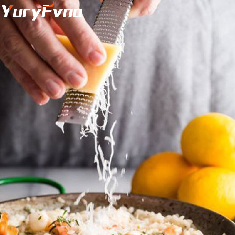 YuryFvna Lemon Chocolate Zester Cheese Citrus Microplane Grater Garlic Ginger Potato Fruit Peeler with Plastic Cover and Brush
