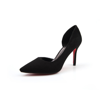 Sexy Pointed Toe Side Hollow Stiletto Heel Pumps