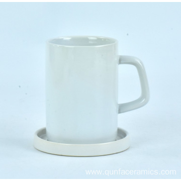 Good price dinnerware tableware ceramic white restaurant coffee mug with saucer
