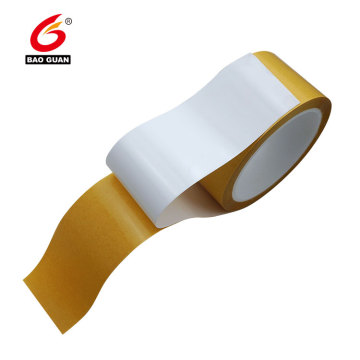 Yellow havanna glassine double sided binding tape
