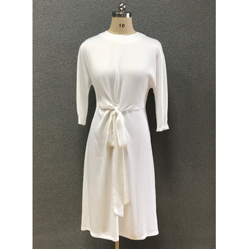 women's white elegant dress