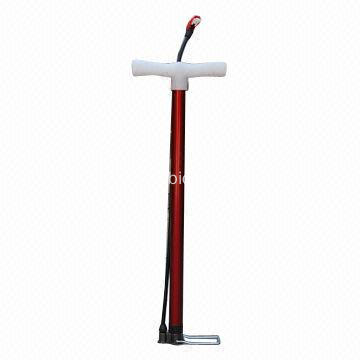 Floor Bike Pump CP Steel Outer Pipe