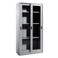 Office furniture steel slider galss cabinet cupboard