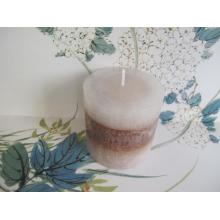 Long Burning Time Unscented Layered Pillar Candle