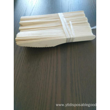 Biodegradable disposable flatware set wooden knife cutlery