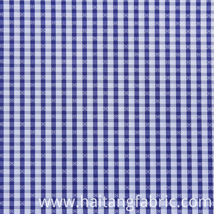 Bamboo Fabric Check Polyester Fabric