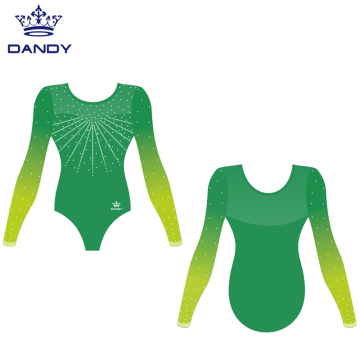 Long sleeve gymnastics leotards