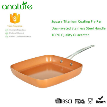 Copper Aluminum Nonstick Square Frying Pan