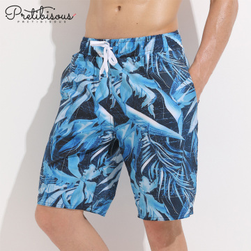Mens swim trunks beach board shorts with belt