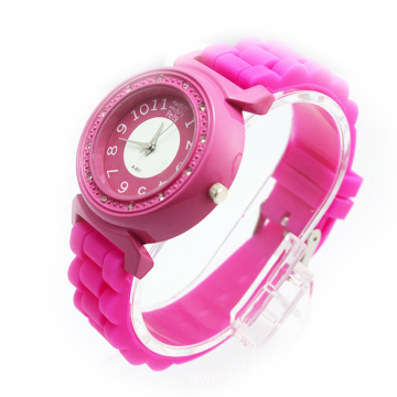Popular Girls Silicone Strap Wristwatches