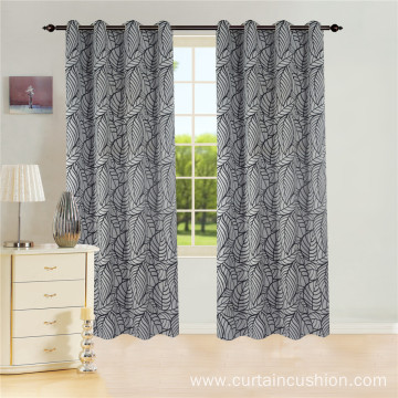 High Quality Jacquard Leaf Window Jacquard Curtains
