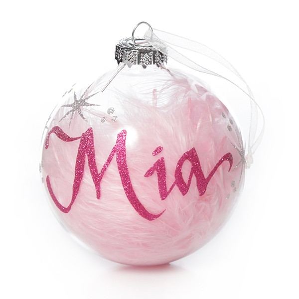 pink_feather_clear_glass_personalised_christmas_bauble_4