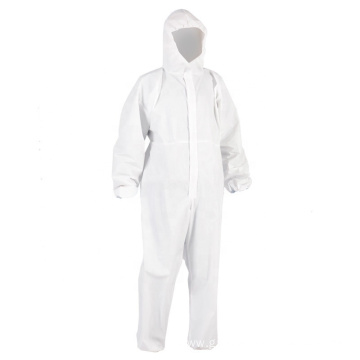 Reusable With Hood Elastic Wrist Isolation Coveralls