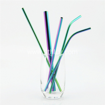 Reusable Straight Drinking Metal Stainless Steel Straws