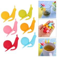 5/6Pieces/lot Tea Bag Holder Silicone Tea Tools Cup Mug Hanging Tool Tea Balls Tools Random Color Tea Strainers