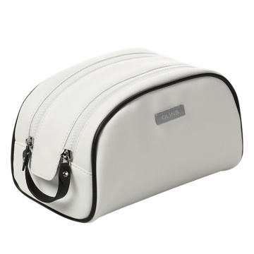 Daily Use Simplicity Leather Makeup Travel Toiletry Bag