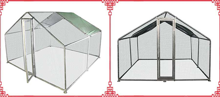 galvanized chicken coop runs