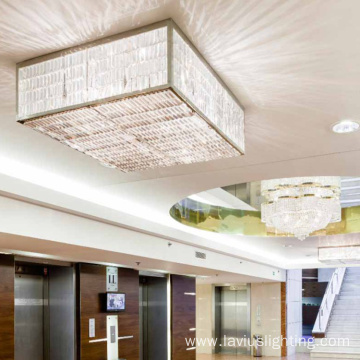 Indoor lobbly hotel crystal led ceiling lamp