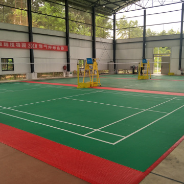 enlio indoor PVC badminton floor mat with BWF