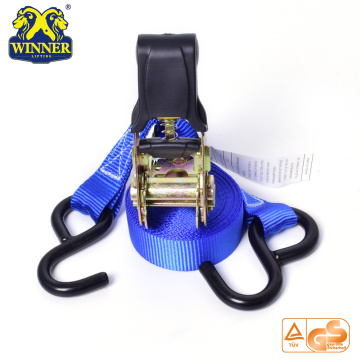 Plastic Cargo Lashing Ratchet Strap With Hook