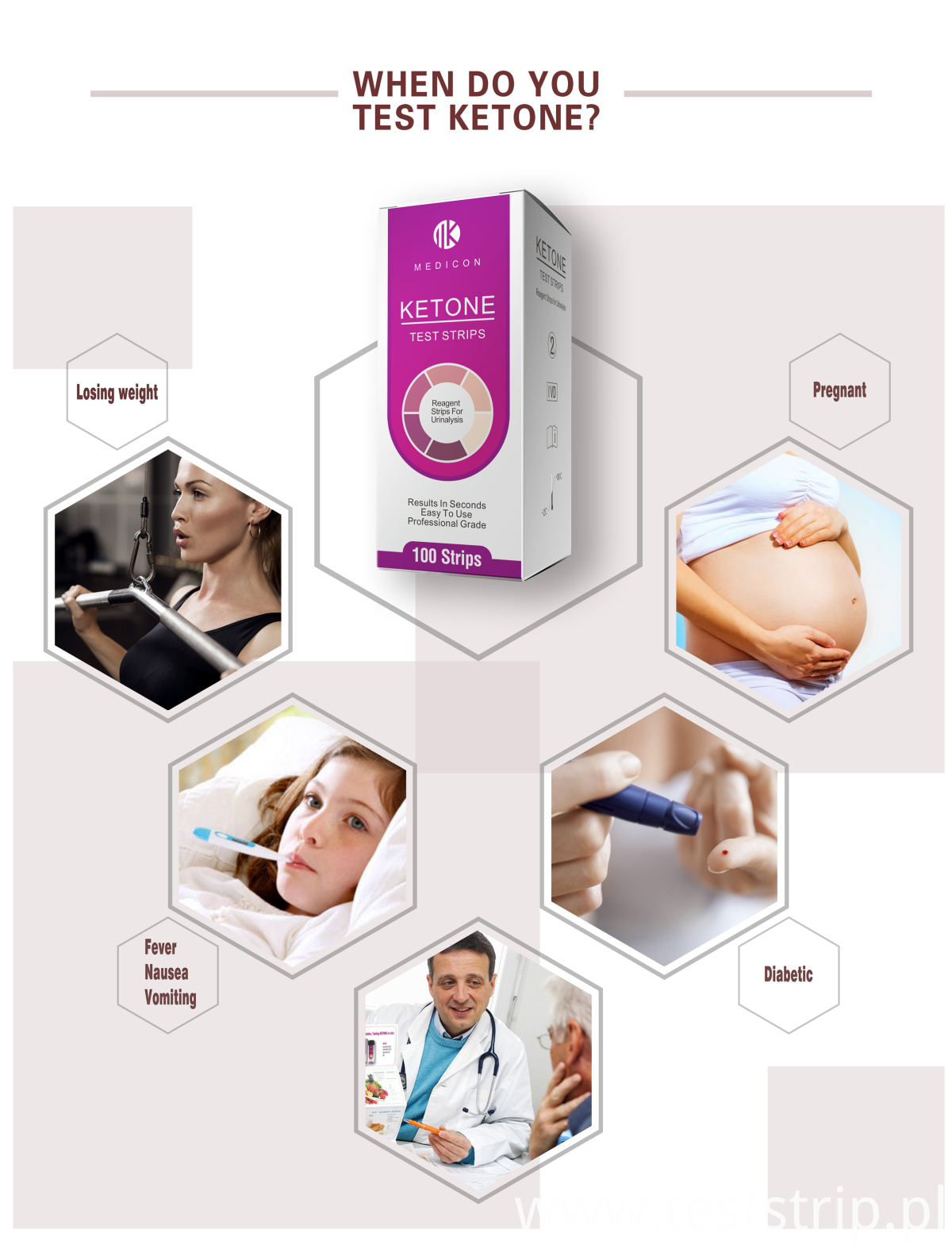 Ketone urine test strips