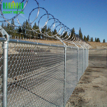 chain link fence steel iron wire diamond mesh