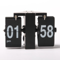 Black Mini Wall Flip Clocks for Home Decoration