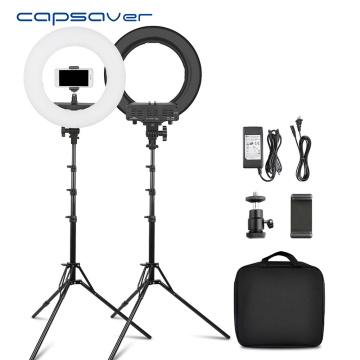 capsaver 14 inches Ring Lamps LED Ring Light Makeup Light Selfie Annular Lamp with Stand Phone Holder for Youtube Video Photo