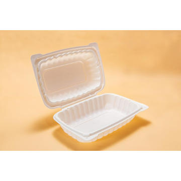Plastic Lunch Box With Hinged Lid
