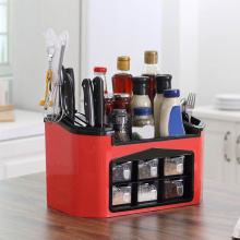 Kitchen Storage Containers Seasoning Box Set Multifunction Knife Holder Containers Supplies Storage Rack Spice Jar Organizer