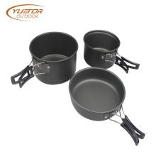 9PCS Stainless Steel Camping Cookware Set For Backpacking