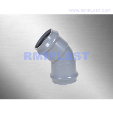 PVC Fitting With Rubber Ring 45 Degree Elbow