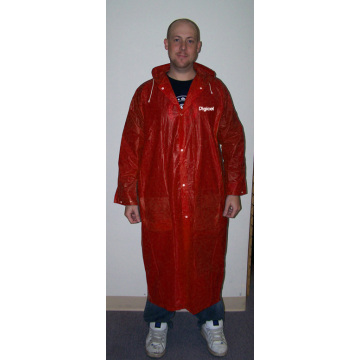 customzied logo PVC LONG RAINCOAT FOR GENTLEMEN