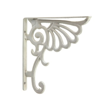 Decorative Cast Iron White Wall Shelving Bracket