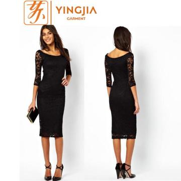 Hot Sale Women Custom Casual Dress Lace Dress