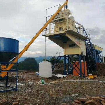 Easy operation factory mobile YHZS35 concrete batching plant