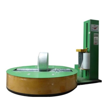 Auto fabric roll stretch film wrapping machine