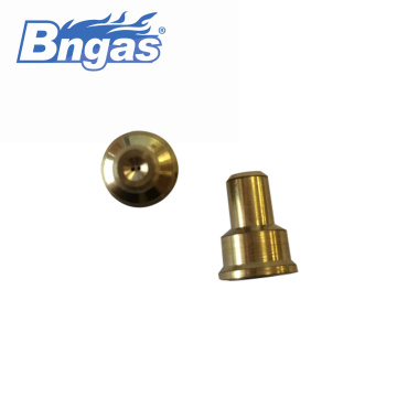 Double holes brass jet burner nozzle