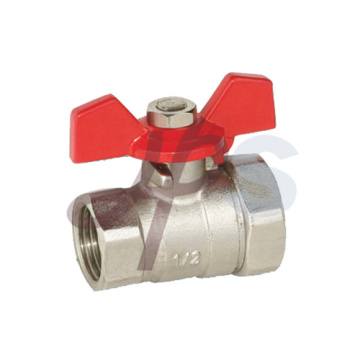 Brass reducing ball valve nickel plated