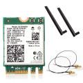 Dual Band 2974Mbps Wireless Network Card Intel AX200 Wi-Fi 6 AX200NGW NGFF M.2 Wifi Bluetooth 5.1 antenna MHF4 Desktop Kit